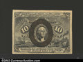 """Fractional Currency:Second Issue, Second Issue 10c, Fr-1246, Choice AU. With overprint """"18-63"""" ..."""