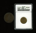 Civil War Merchants, 1863 New York, NY, Monk's, MS63 ANACS,... (Total: 2 tokens)