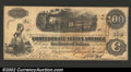 Confederate Notes:1862 Issues, 1862 $100 Railway Train; Diffused Steam from Locomotive; ...