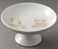 Political:3D & Other Display (pre-1896), Cleveland & Thurman: Unique Jugate Compote From the 1888 Campaign. ...