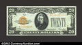 Small Size:Gold Certificates, 1928 $20 Gold Certificate, Fr-2402, Gem CU. Boldly embossed ...