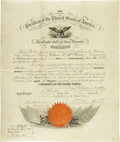 Autographs:U.S. Presidents, Franklin Pierce Presidential Document Signed...