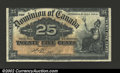 Canadian Currency: , 1900 Dominion of Canada 25 Cents Note, XF. ...