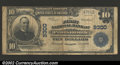 National Bank Notes:Virginia, Portsmouth, VA - $10 1902 Plain Back Fr. 626 FNB of ...