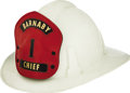 "Movie/TV Memorabilia:Costumes, Buddy Ebsen Honorary Helmet from Burbank Fire Department. A vintagefirefighter's helmet with ""Barnaby #1 Chief"" on the shie... (Total:1 Item)"