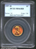 "Lincoln Cents: , 1957-D 1C MS66 Red PCGS. The latest Coin World ""Trends"" ..."