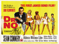 "Movie Posters:James Bond, Dr. No (United Artists, 1962). British Quad (30"" X 40"")...."