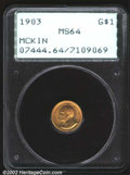 Commemorative Gold: , 1903 $1 Louisiana Purchase/McKinley MS64 PCGS. A well ...