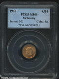 Commemorative Gold: , 1916 $1 McKinley MS64 PCGS. A sharply struck example ...