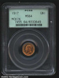 Commemorative Gold: , 1917 $1 McKinley MS64 PCGS. Sparkling reddish-golden ...