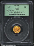 Commemorative Gold: , 1922 $1 Grant MS66 PCGS. A lovely representative of a ...