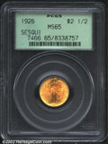 Commemorative Gold: , 1926 $2 1/2 Sesquicentennial MS65 PCGS. While near-Gem ...