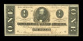 Confederate Notes:1864 Issues, T71 $1 1864 Cr. 574 PF-12. Nice orange tints accent this Choice Crisp Uncirculated Clay note....