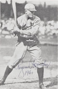 "Autographs:Photos, 1961 Rogers Hornsby Signed Magazine Photograph. Hornsby was once quoted to say, ""Any ballplayer that don't sign autographs ..."
