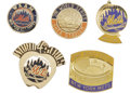 Baseball Collectibles:Others, 1969-2000 World Series Press Pins Lot of 5 (New York Mets). AllOctober appearances from the Amazin' 1969 season through th...