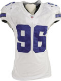 Football Collectibles:Uniforms, 2006 Marcus Spears Game Worn Uniform. Rough, sweaty wear suggests that lining up against this 2005 first round draft pick w...