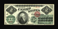 Large Size:Legal Tender Notes, Fr. 41 $2 1862 Legal Tender New. Three pinholes and a few minor edge tears distract from what is otherwise an extremely nice...