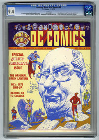 Amazing World of DC Comics #3 (DC, 1974) CGC NM 9.4 White pages. Julius Schwartz issue. Previously unpublished Green lan...