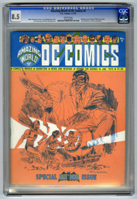 Amazing World of DC Comics #4 (DC, 1975) CGC VF+ 8.5 White pages. Batman issue. Denny O'Neill interview. Jerry Robinson...