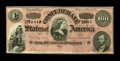 Confederate Notes:1864 Issues, T65 $100 1864 Cr. 490 PF-1. Only a light center fold keeps this gorgeous Dark Red Ink variety from Gem. Also of note on back...