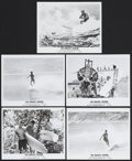 """Movie Posters:Sports, The Endless Summer (Cinema V, 1966). Stills (5) (8"""" X 10""""). Sports. Starring Michael Hynson, Robert August, Lord """"Tally Ho"""" ... (Total: 5 Item)"""