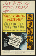"Movie Posters:Mystery, The List of Adrian Messenger (Universal, 1963). Window Card (14"" X 22""). Mystery. Starring George C. Scott, Robert Mitchum, ..."