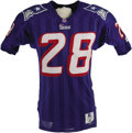 Football Collectibles:Balls, 1995 Curtis Martin Game Worn Rookie Jersey. Curtis Martin has quietly become one of the NFL's all time great backs, but aft...