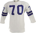 Football Collectibles:Uniforms, Early 1970's Rayfield Wright Game Worn Jersey. This recent Canton inductee anchored the Boys' offensive line for thirteen s...