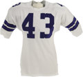 Football Collectibles:Uniforms, Mid-1960's Don Perkins Game Worn Jersey. This eight-year veteran of the Dallas Cowboys backfield found himself in the top t...