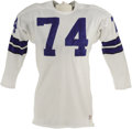 Football Collectibles:Uniforms, Early 1970's Bob Lilly Game Worn Jersey. This number one pick out of Texas Christian further endeared himself to the footba...