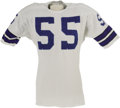 Football Collectibles:Uniforms, Early 1970's Lee Roy Jordan Game Worn Jersey. For fourteen great seasons Jordan proudly represented the Dallas Cowboys foll...