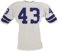 Football Collectibles:Uniforms, Early 1970's Cliff Harris Game Worn Jersey. He stormed out of tiny Ouachita Baptist to a distinguished ten season career wi...