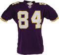 Football Collectibles:Uniforms, 2003 Randy Moss Game Worn Jersey. The superstar receiver's finest season to date, with career highs in reception yardage (1...