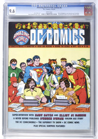 Amazing World of DC Comics #2 (DC, 1974) CGC NM+ 9.6 White pages