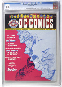 Amazing World of DC Comics #1 (DC, 1974) CGC VF/NM 9.0 White pages. Joe Kubert interview. Previously unpublished Jack Ki...