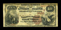 National Bank Notes:North Carolina, High Point, NC - $10 1882 Brown Back Fr. 482 The NB of High Point Ch. # (S)3490. An extremely rare High Point bank which...
