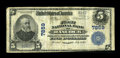 National Bank Notes:Maryland, Hancock, MD - $5 1902 Plain Back Fr. 599 The First NB Ch. # 7859.An extremely rare western Maryland note, with the cens...
