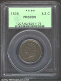 Proof Classic Head Half Cents: , 1836 1/2 C PR62 Brown PCGS. B-1, Low R.6. Having filled ...