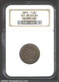 Proof Braided Hair Half Cents: , 1852 1/2 C Restrike, Small Berries PR65 Brown NGC. B-2, R....