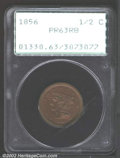 Proof Braided Hair Half Cents: , 1856 1/2 C PR63 Red and Brown PCGS. B-1, R.7. The ...