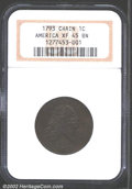 Large Cents: , 1793 Chain 1C AMERICA XF45 NGC. S-3, Low R.3. This is an ...