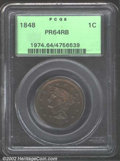 Proof Large Cents: , 1848 1C PR64 Red and Brown PCGS. N-19, Low R.6. The 1 in ...
