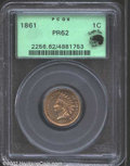 Proof Indian Cents: , 1861 1C PR62 PCGS. Eagle Eye Photo Seal. Nicely ...