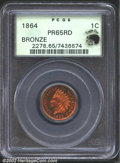 Proof Indian Cents: , 1864 1C Bronze PR65 Red PCGS. Eagle Eye Photo Seal. Snow (...