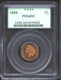 Proof Indian Cents: , 1869 1C PR64 Red PCGS. Rose, orange, and lime-green ...