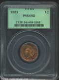 Proof Indian Cents: , 1882 1C PR64 Red PCGS. A rose-gold near-Gem that has a ...