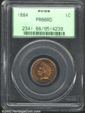 Proof Indian Cents: , 1884 1C PR66 Red PCGS. The date is lightly repunched ...