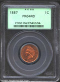 Proof Indian Cents: , 1887 1C PR64 Red PCGS. Fully original with warm cherry-...