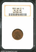 Lincoln Cents: , 1909-S VDB 1C MS64 Red and Brown NGC. Dusky saddle-brown ...