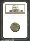 Proof Buffalo Nickels: , 1937 5C PR64 NGC. Deep olive-gold and lilac patina on the ...